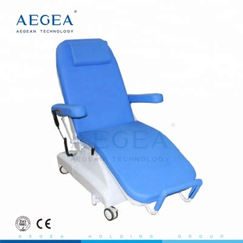 AG-XD301 two motors hospital equipment blood sampling chair with IV stand
