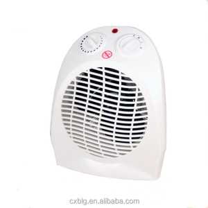 Desktop electric room mini fan heater with tip over switch