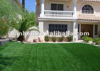 Synthetic grass around the house
