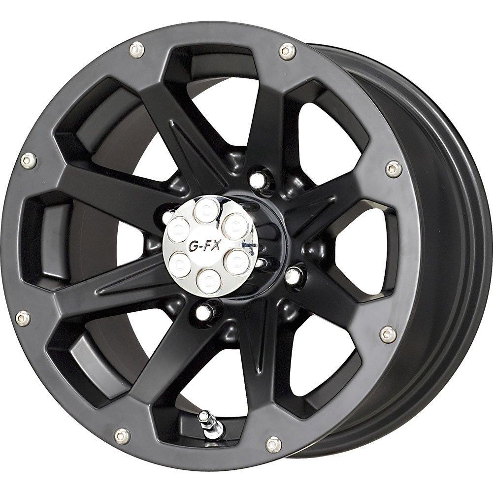 """G-FX Six Shooter Matte Black Wheel (12x7""""/4x110mm)"""