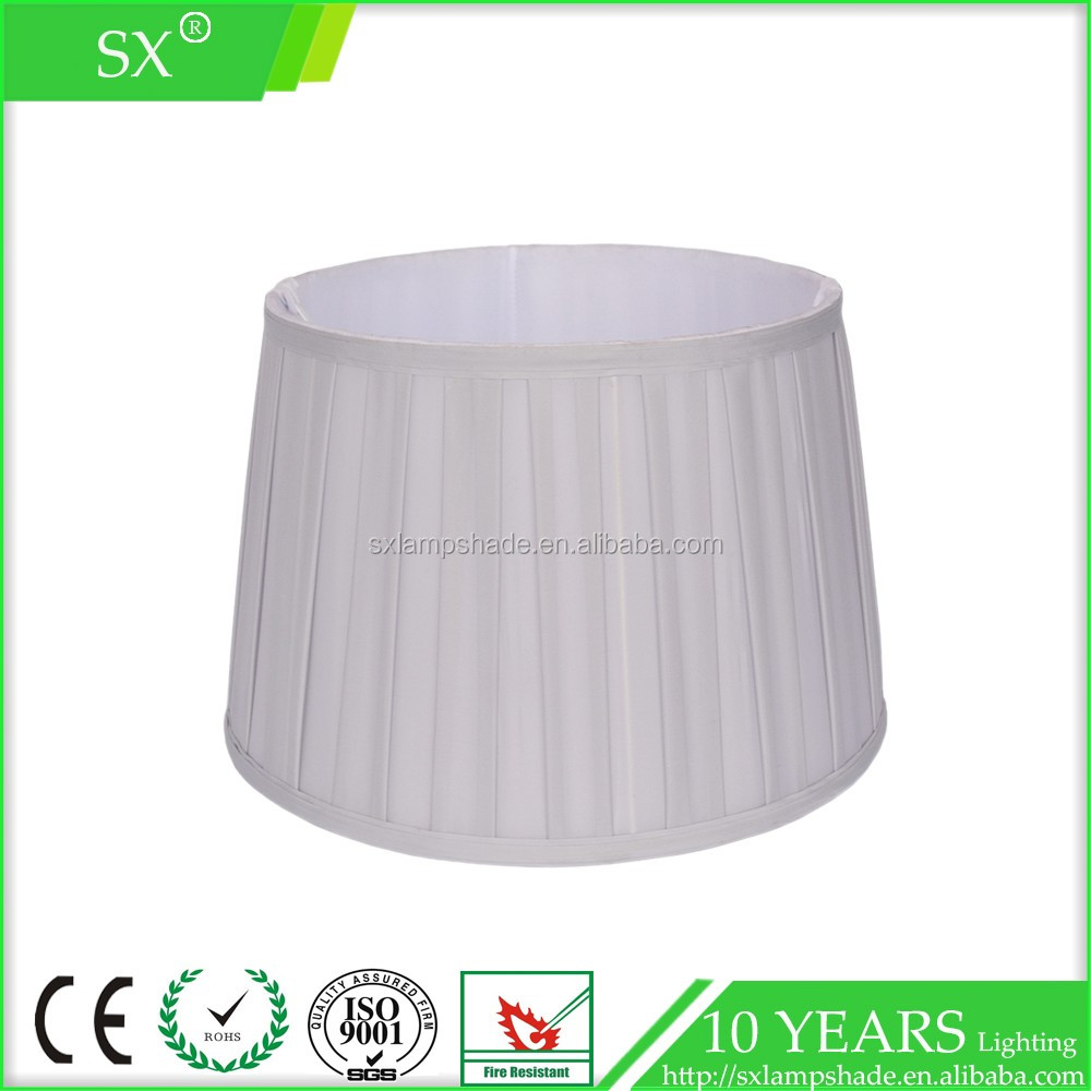 popular residential white color lining fabric palace pleated hanging lampshade