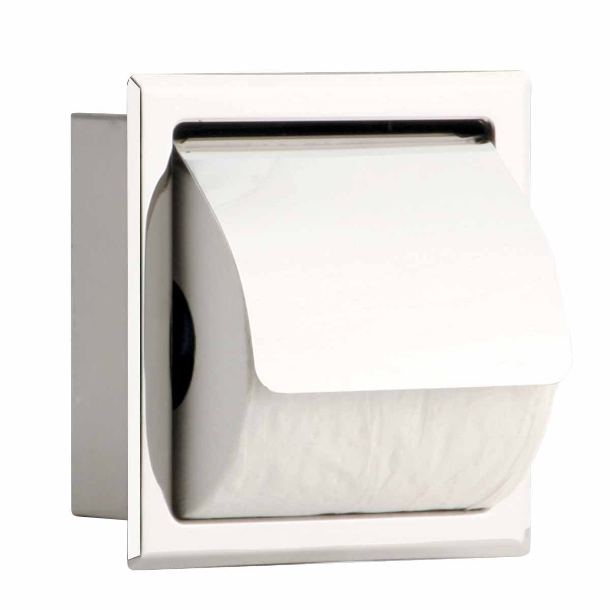 Get Quotations Renovator S Supply Recessed Toilet Paper Holder Stainless Steel Polished With Lid Single Or Double Ply Rolls