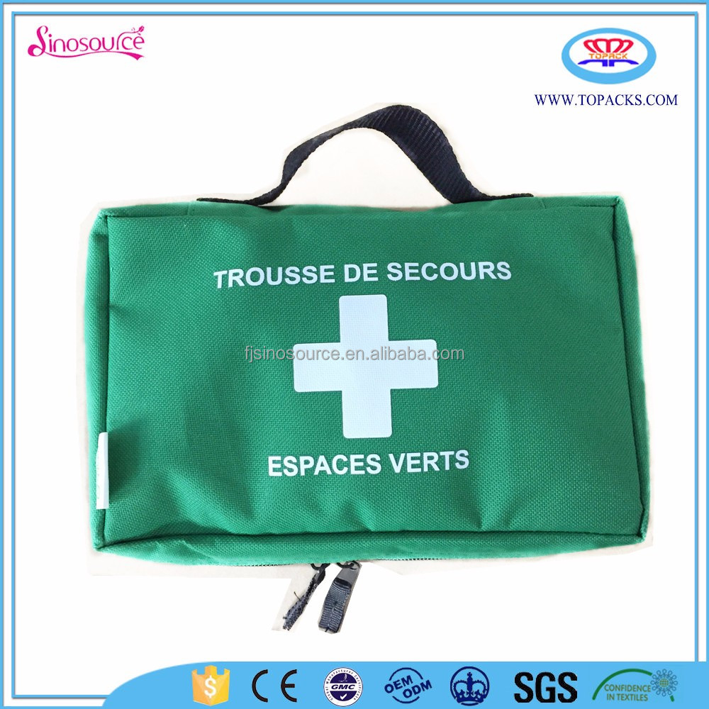custom mini child green basic first aid kit kid care pouch with logo