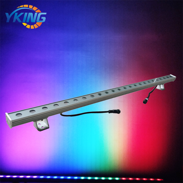 Aluminum IP66 Waterproof 24V RGB Color change 24w led wall washer 3 in 1 dmx