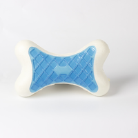 Shenzhen wholesale New design Bone Shape gel cooling Massage Contour car neck rest Memory Foam Pillow neck Pillow