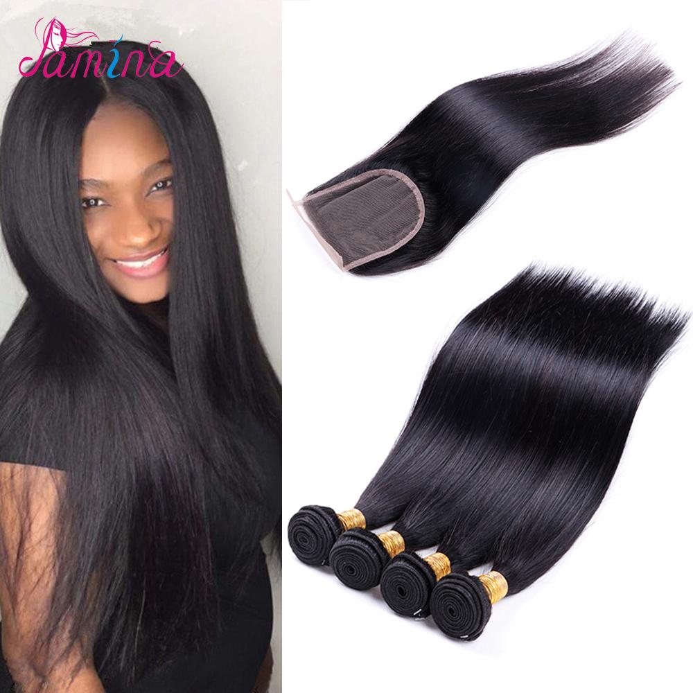 Cheap Aliexpress Hair Silky Straight Weave Brazilian Virgin Human Hair With Lace Closure 8a Brazilian Hair Bundles For Women фото