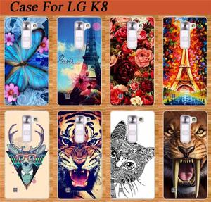 "For LG K8 Soft TPU Case For LG K8 Lte K350 K350E K350N 5.0"" K 8 4G Mobile Phone Rubber silicone Bags Back Cover Case Phone Sheer"
