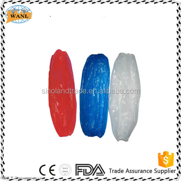 waterproof medical PE sleeves plastic arm sleeve