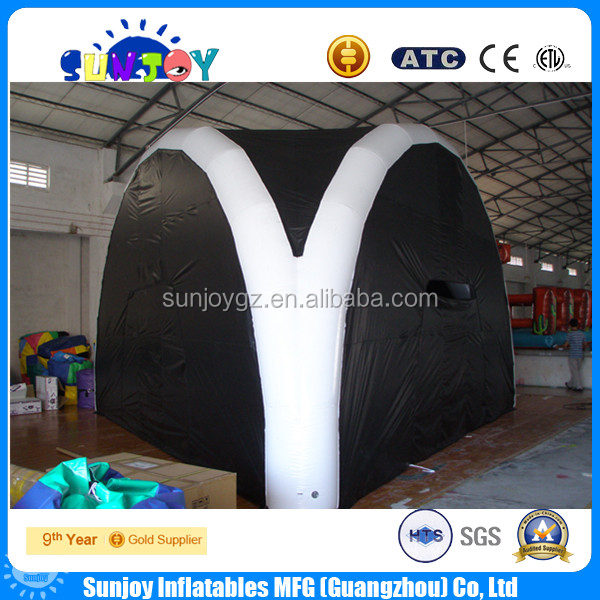 Popular Black Inflatable Air-Sealed Tents/Marquee/dome for Camping