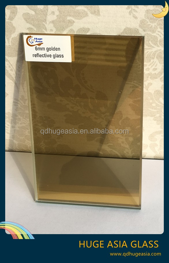 8mm Gold Reflective Glass for Building Materials and Glass Curtain Wall