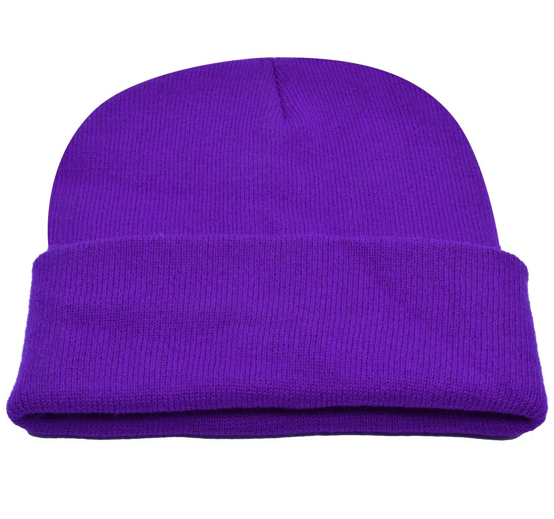 787ad0389c0000 Get Quotations · PZLE Skull Cap Purple Mens Knitted Hats Stocking Cap  Purple Beanie Purple
