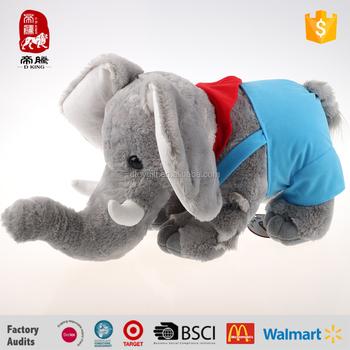 china stuffed elephant with big ears soft plush elephant wear