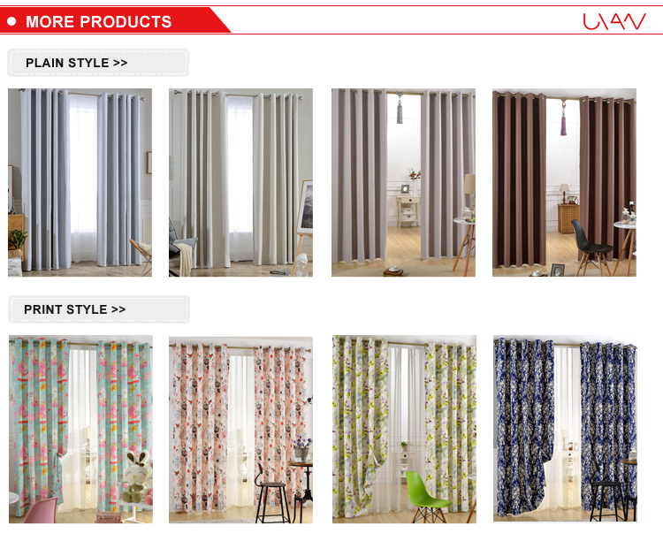 Blackout Thermal Insulated Polyester Ready Made Curtains for The Living Room