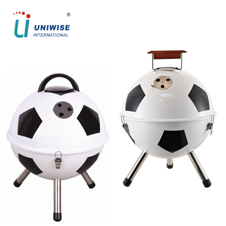 Helmet Design Unique America Football Shaped BBQ Grill with ash collector