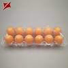 Customized Food Grade Eggs Packaging Box 10 Cells Plastic Clear Egg Tray