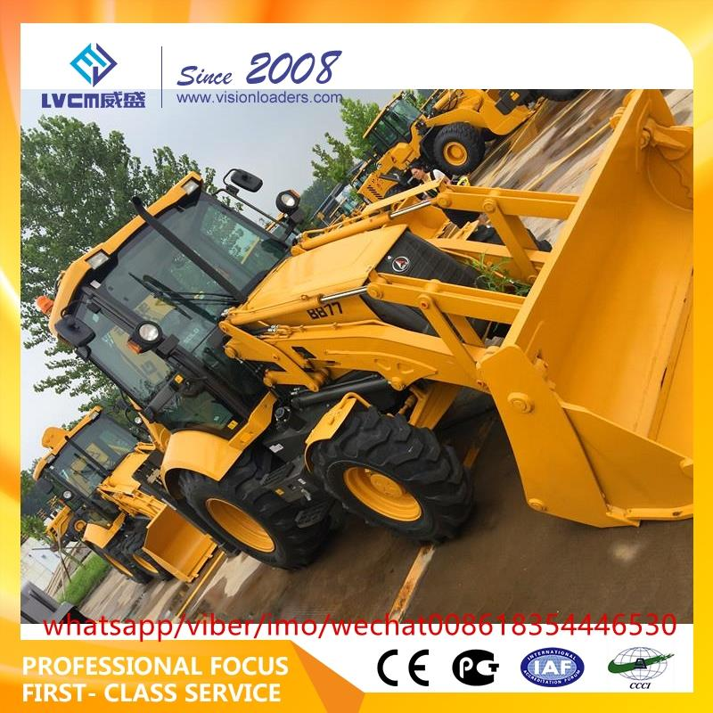 china backhoe loader with price mini tractor with front end loader and backhoe made in china b877