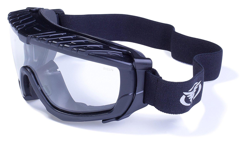 Global Vision Eyewear Ballistech 1 Safety Glasses with Matte Black Frames and Clear Anti-Fog Lenses