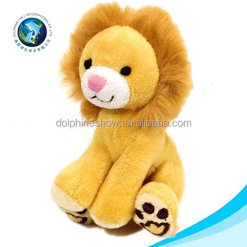 Real fur cute plush lion animal soft stuffed cute cheap lion dance toy