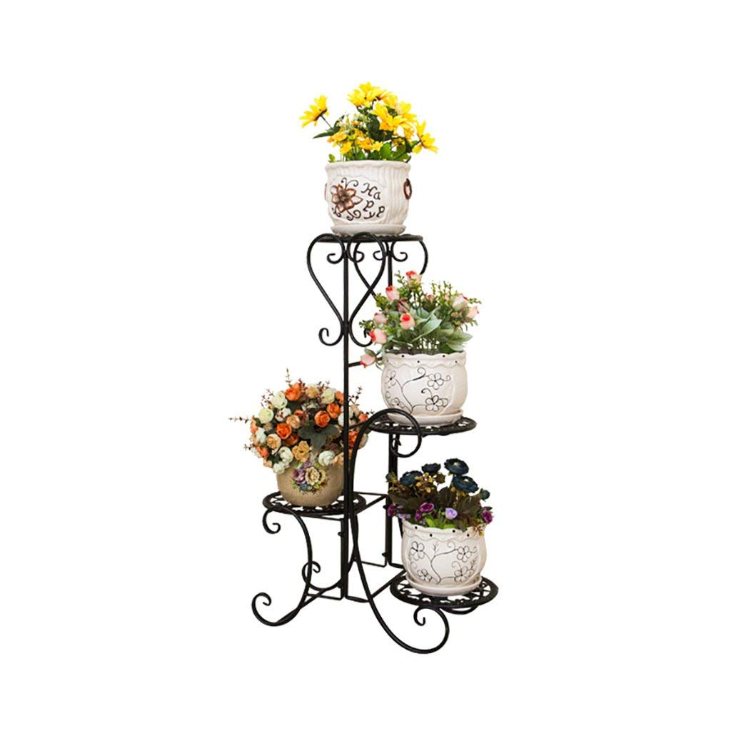 Flower Stand Handmade Metal Plant Stands Flower Shelf Display Shelf Plant Flower Display Stand Pot Shelf (Color : A)