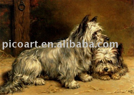 hand painted home decoration pets painting on canvas at good price