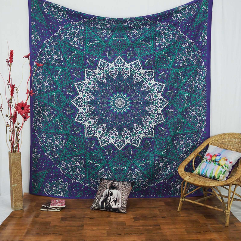 Indian Mandala Tapestry Hippie Home Decorative Wall Hanging Tapestries Boho Beach Towel Yoga Mat Bedspread Table Cloth 210x148cm