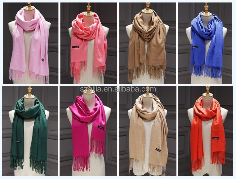 Solid ladies cashmere scarf pashmina scarf
