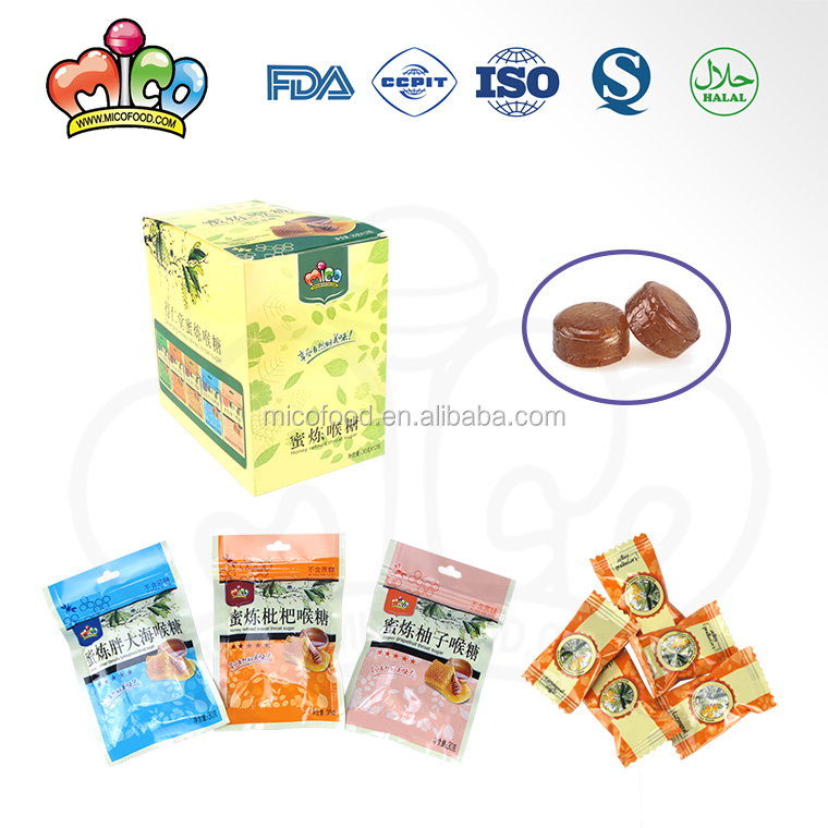 five flavor honey refined throat hard candy