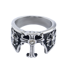 R036 316 L stainless steel jewelry black casting men ring