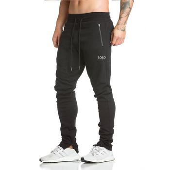a8d0f75c7 wholesale custom slim fit cotton zipper pocket joggers sweatpants men gym track  pants