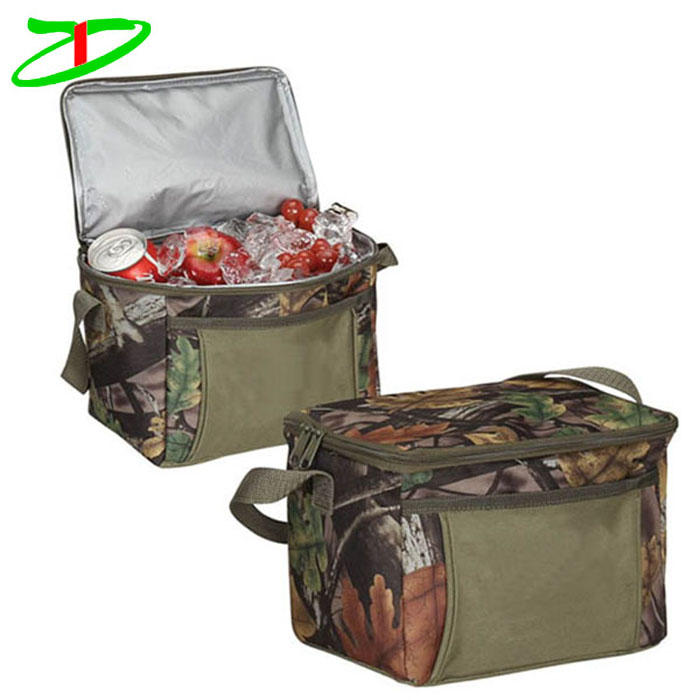 custom top opening & pockets big soft sided cooler bags, camo cooler