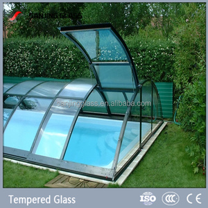 Laminated glass for swimming pool glass cover