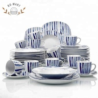 Patterned Dinnerware Sets Square Dining Plate Set