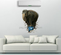 3D Elephant Wall Art Sticker home Decor Mural Kids Room Home Decoration Removable Cartoon decorative painting 3D-026