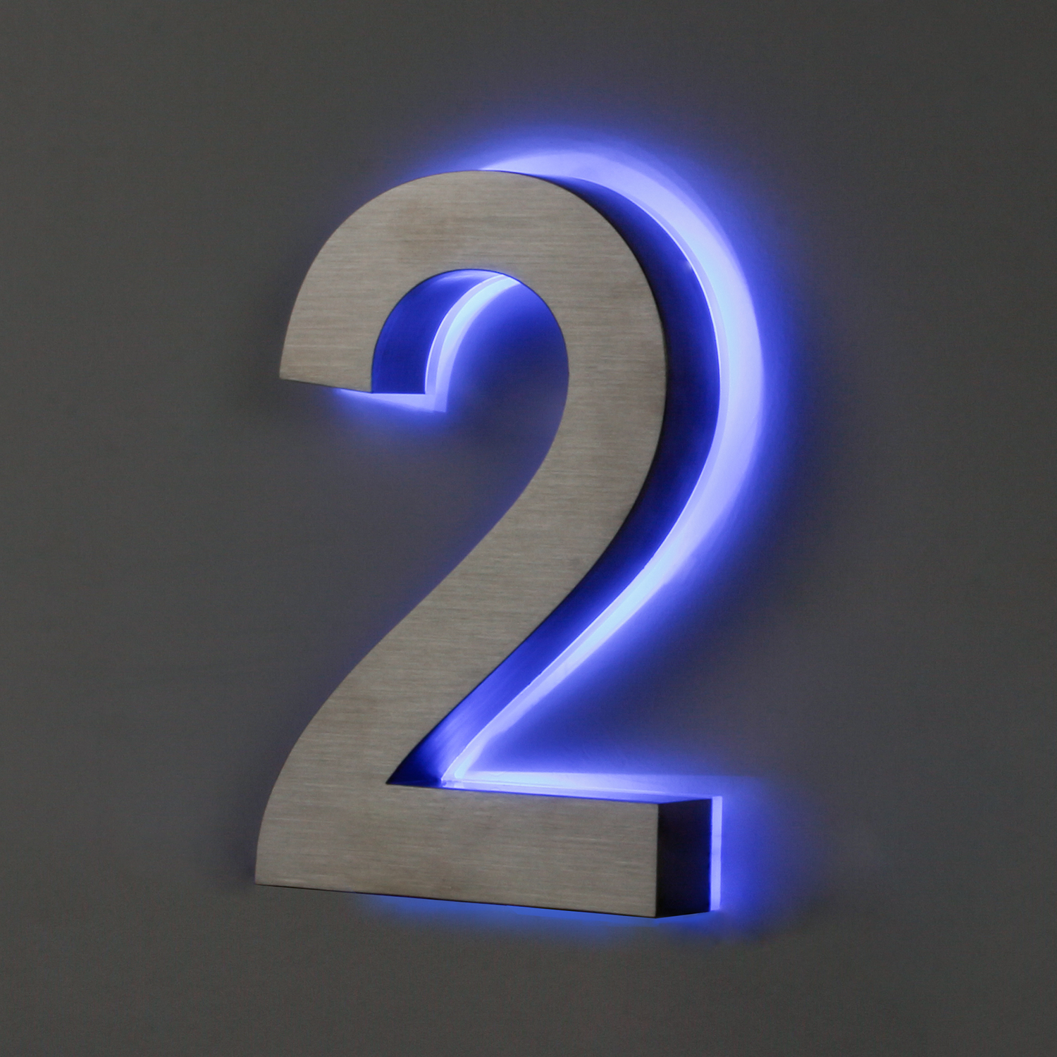 Outdoor led house number sign
