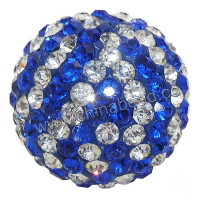 Wholesale large rhinestone shamballa ball bead 40mm round pave beads