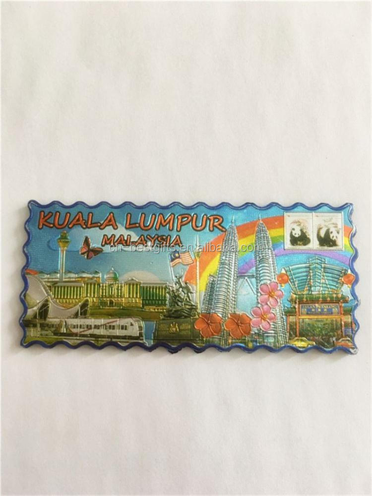 Latest arrival different types decorative tourist fridge magnets with many colors