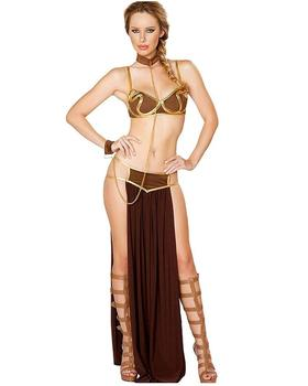 ecowalson Women's Sexy Princess Leia Slave Costume Miss Manners Uniform