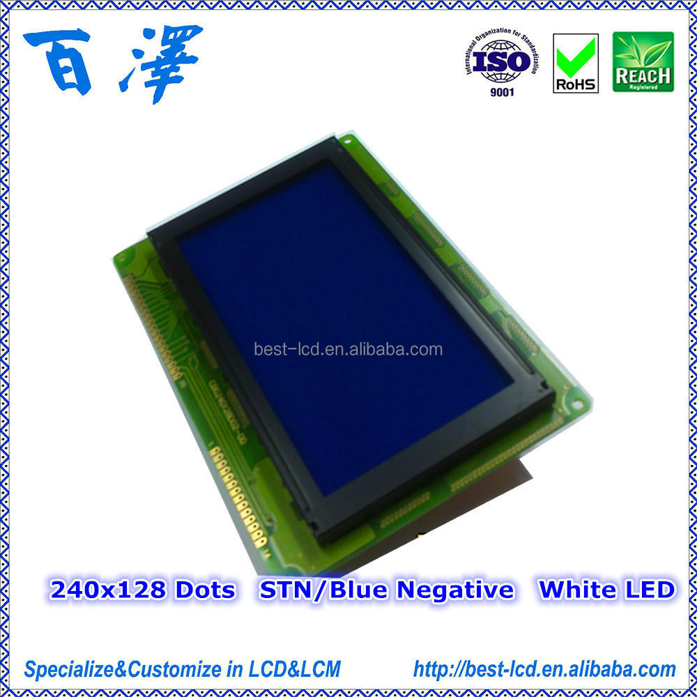 240x128 Dots 5.0V Wide Temperature Parallel Interface Graphic LCD Module