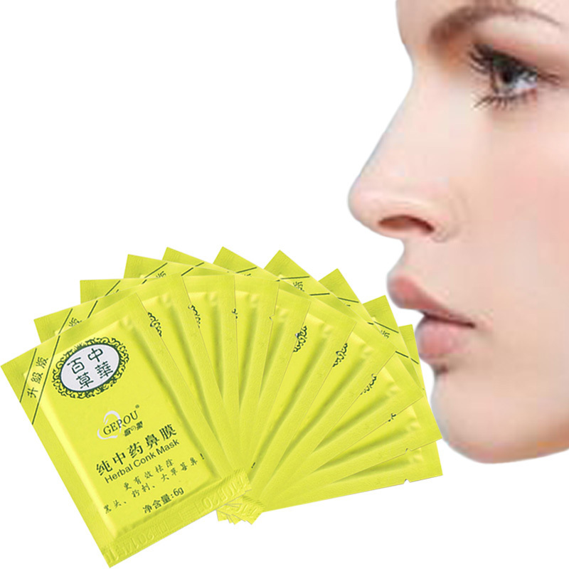10PCS Herbal Deep Cleansing Nose Pores Blackheads Removal Conk Mask E#TN