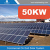 New design 50kw solar power plants include solar panel poly for Mexico market
