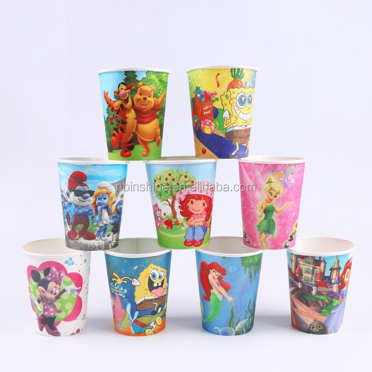 Professional supplier kids birthday party cups napkins bulk paper plates