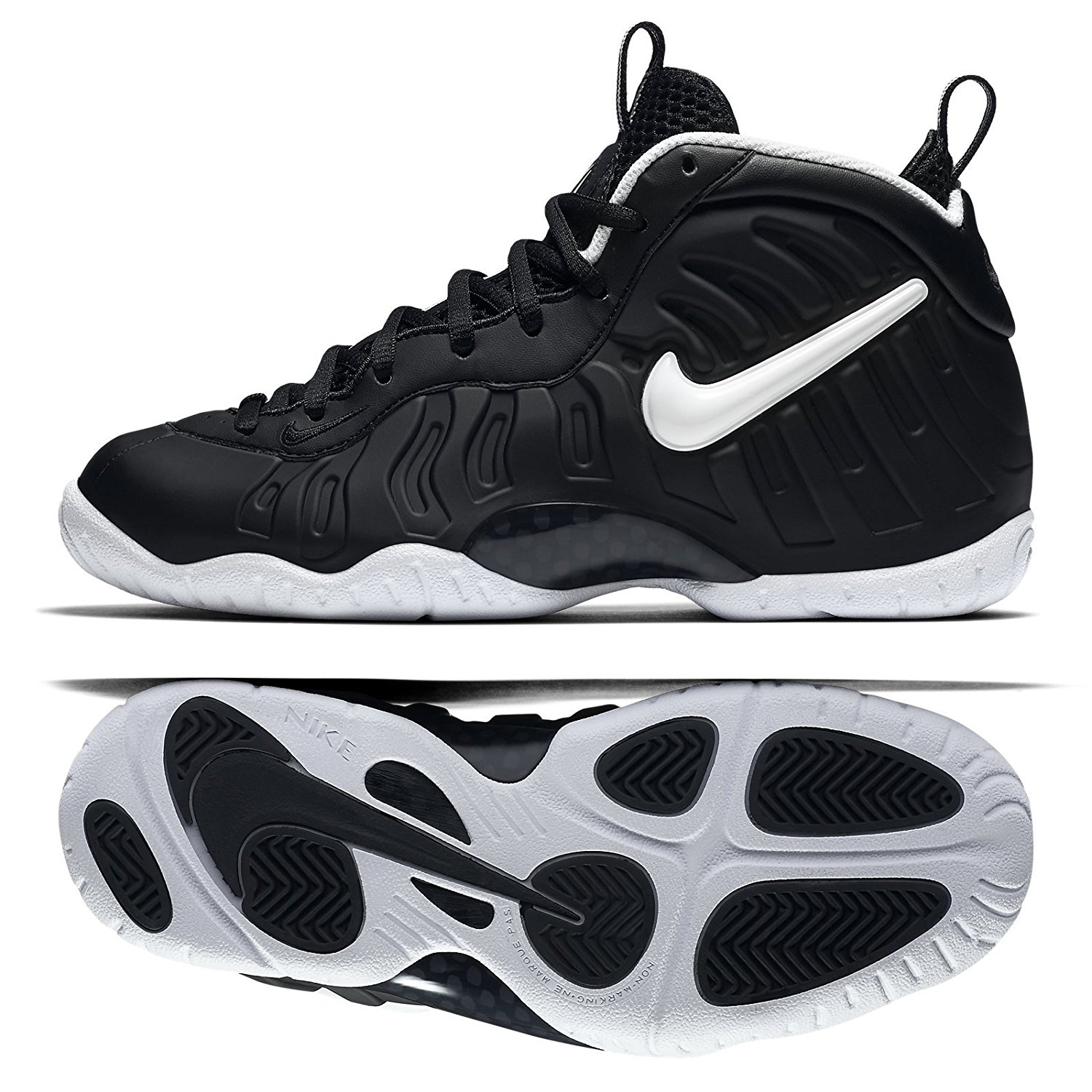 e24ce4ab5c4 Get Quotations · Nike Little Posite Pro (GS) DR DOOM 644792-006 Black White  Big