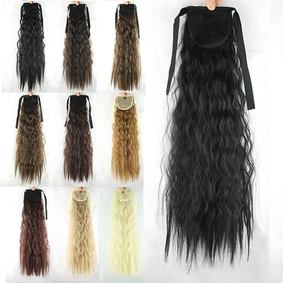 Wholesale 55cm Women Hair Extensions Afro Kinky Curly Hair Ponytail ... c0e5082c7