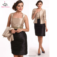 High fashion Taffeta Woven Church suits,2pcs Easter dress suit with crystal waistband