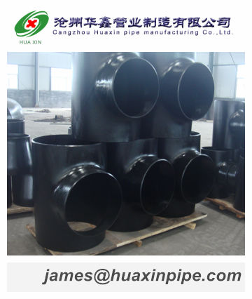 Pipe fittings,Carbon steel/seamless Equal & Reducing tee