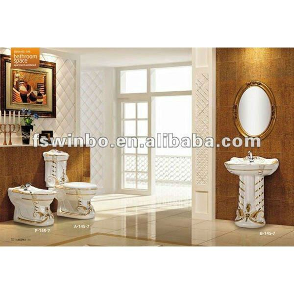 Component Bidets Toilets decorated ceramic sanitary ware
