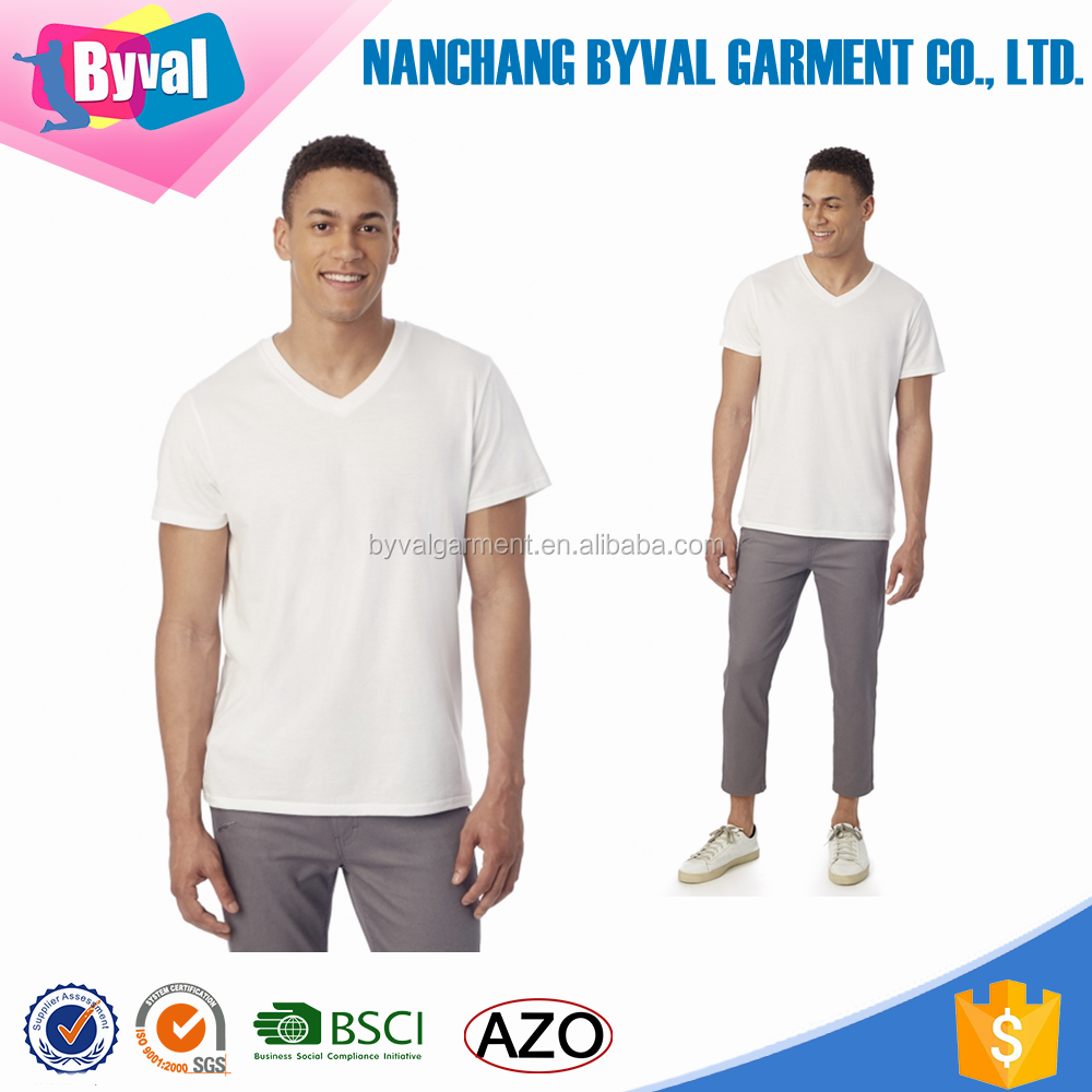 100%Cotton Mens T shirt White Blank T shirt Wholesale In China Garment