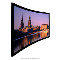 150 Inch 4K Ultra HD Curved Screen,High Contrast Movie Theater Curve Frame Screen