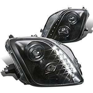 For Honda Prelude Black Clear SMD LED DRL Projector Headlights Replacement