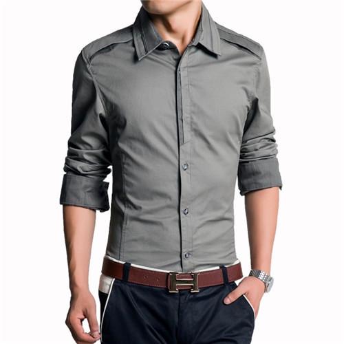249387979 Get Quotations · New Shirt Men 2015 New Fashion Men Slim Fit Long Sleeve  Shirt Fashion Cotton Personality Button